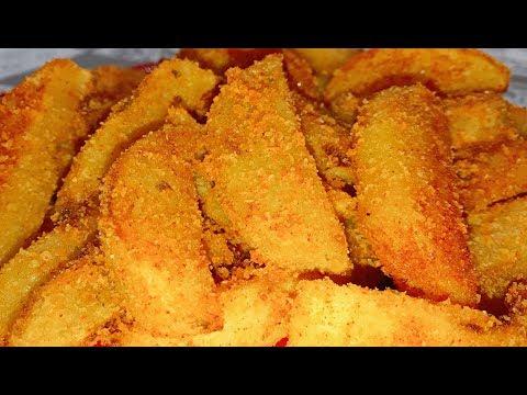 Картофель с хрустящей  корочкой. Проще и вкуснее не бывает. Секрет приготовления