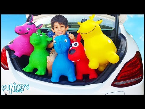 Thumbnail: Bad Animals Hide in Car Trunk Funny Kids Video | Learn Colors and Animals for Children and Toddlers