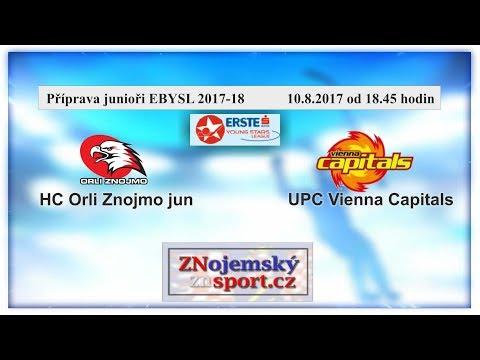 Příprava EBYSL Orli Znojmo jun  - UPC Vienna Capitals 22.8.2017 od 18.45hodin