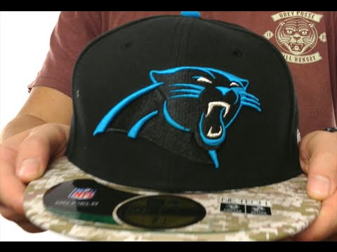 5c5066fbf Panthers  2014 SALUTE-TO-SERVICE  Black-Desert Fitted Hat by New Era ...