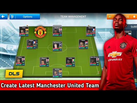 How to make Manchester United New Kits & Logo 2019/2020 | Dream League Soccer 2019.