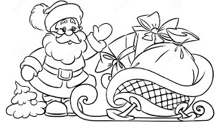 How to Draw Santa Claus Christmas Gifts illustration