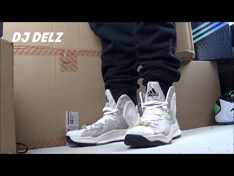 2adidas d rose 5 on feet