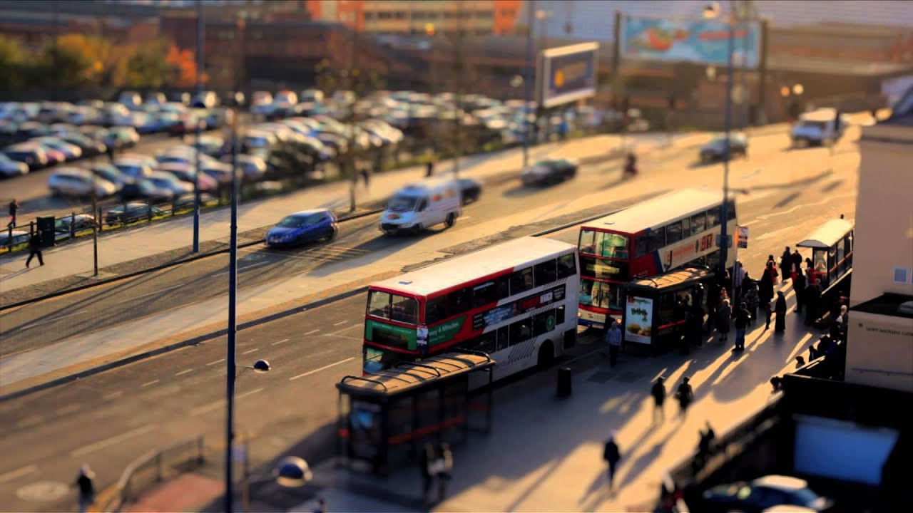 Birmingham In Miniature Tilt Shift Effect Canon 60d
