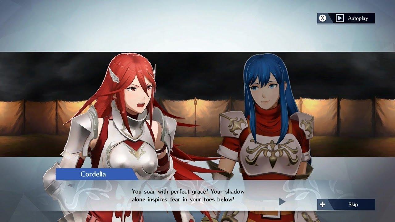 Fire Emblem Warriors Cordelia Caeda Support Conversation Youtube