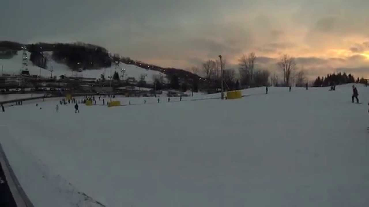 snowboarding at glen eden ski resort, bunny hill, gopro hero 3 black