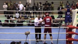 2012/2/11 ボクシング全日本女子選手権 ミドル級決勝 山崎静代vs鈴木佐弥子