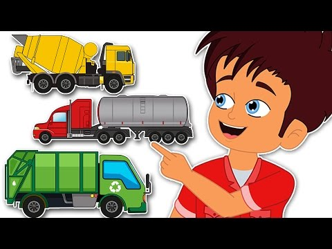 Thumbnail: Surprise Eggs Trucks | Tanker Bulldozer Cargo Trucks | CDS Kids Tv