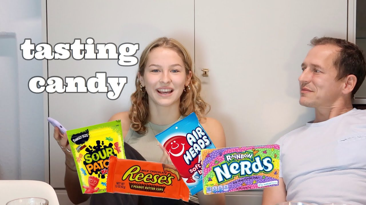Tasting American candy with my family- *fragen beantworten