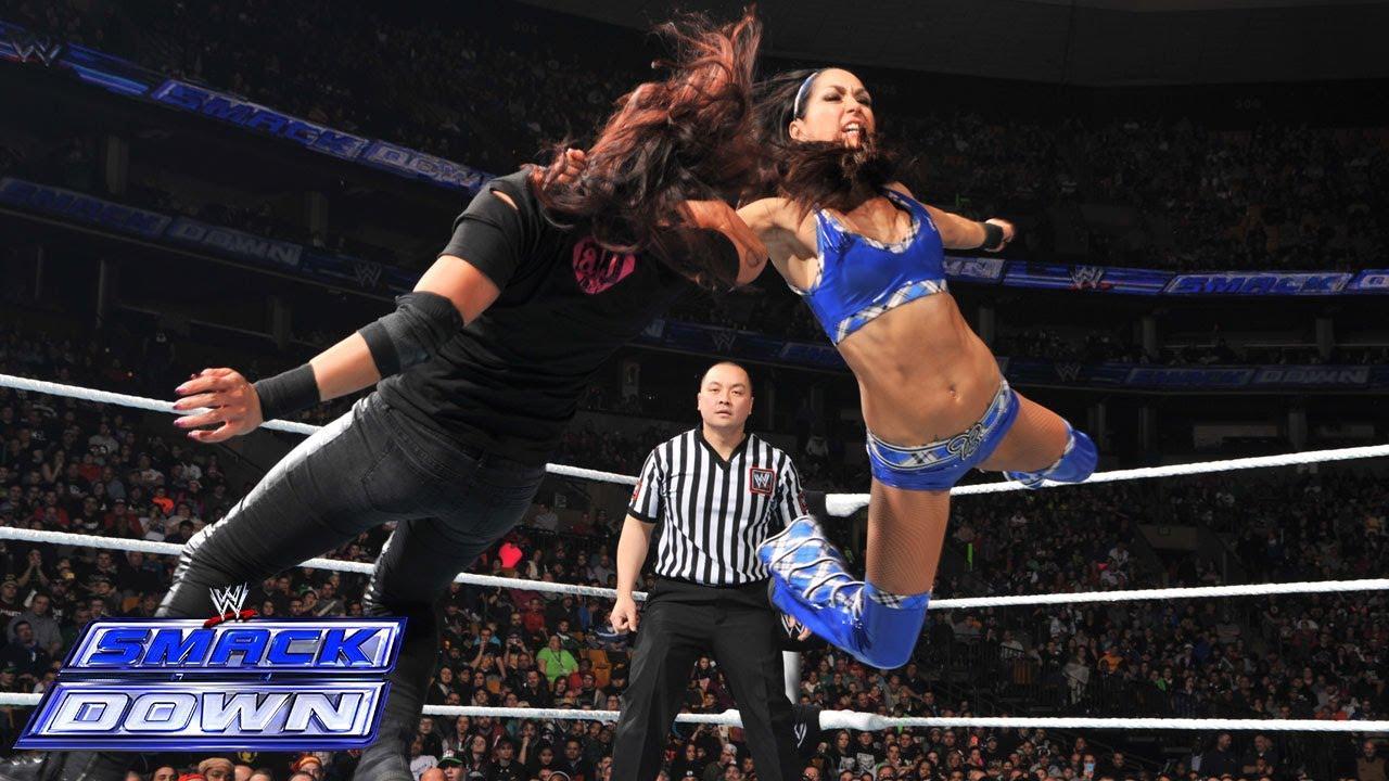 Naomi vs Tamina Snuka SmackDown Jan 17 2014  WWE