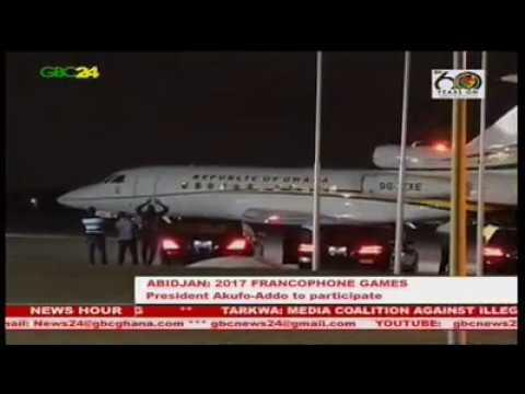 President Akufo-Addo in Abidjan for 2017 Francophone Games