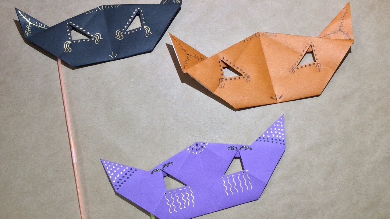 How To Fold An Origami Mask Tutorial