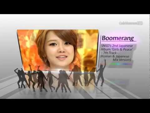 SNSD - Boomerang [ Mix Ver. ( Korean & Japanese ) ]