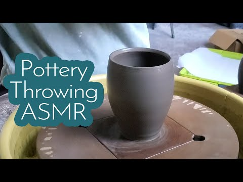 Pottery Throwing ASMR (no voice or music)