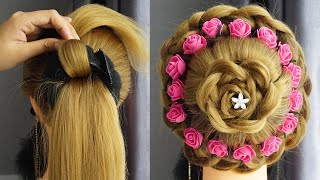 New Juda Hairstyle For Bridal Beautiful Bun Hairstyle For Wedding Party Wear Easy Hairstyles