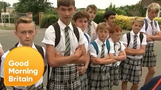 Schoolboy Protest No-Shorts Uniform policy... by Wearing Skirts! | Good Morning Britain