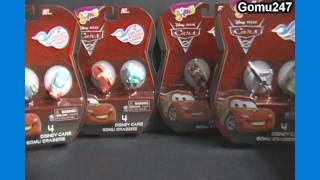 Opening a Pack Disney Cars 2 Gomu Collectible Erasers Unboxing & Review