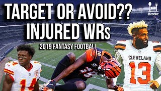 Wide Receivers to Avoid & Target in 2019 Fantasy Football (Based on 2018 Injuries)