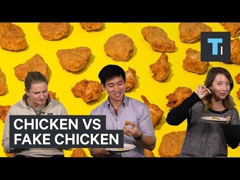 Chicken vs fake chicken meat