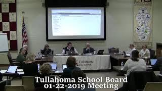 Tullahoma School Board Meeting 01-22-2019