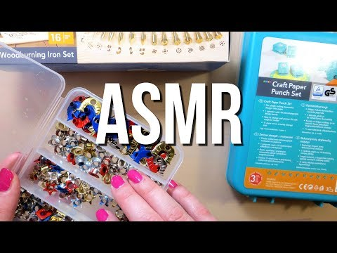ASMR Unboxing Craft Supplies - No Talking || Crinkle, Cardboard & Tapping Sounds