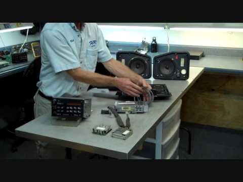 How to Chevy Corvette Bose C4 Stereo radio speaker amp speakers ...