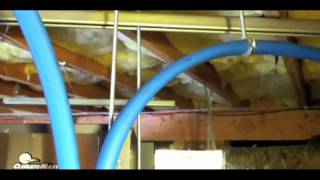 ClimateMaster Horizontal Geothermal Heat Pump Vertical Ground Loop Installation