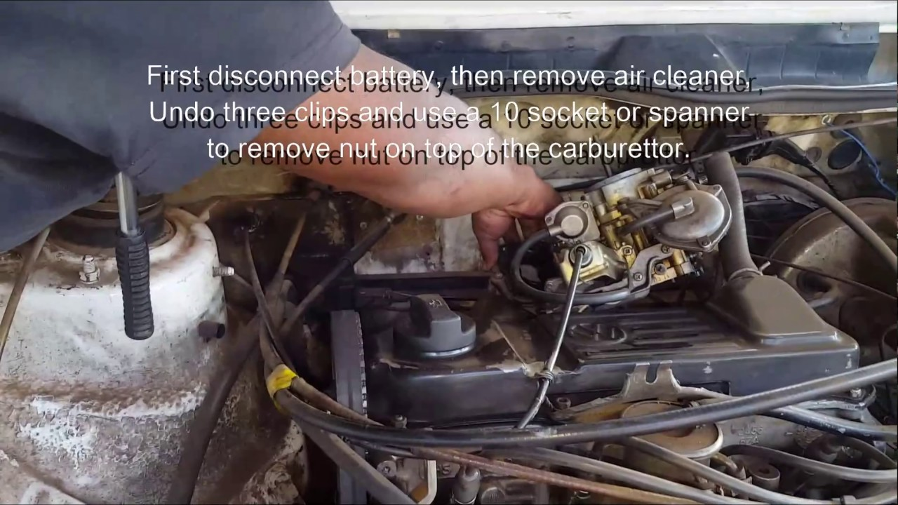 vw golf mk1 carburettor base plate replacement youtube rh youtube com Air Cooled VW Turbo Kits VW Carb No Choke