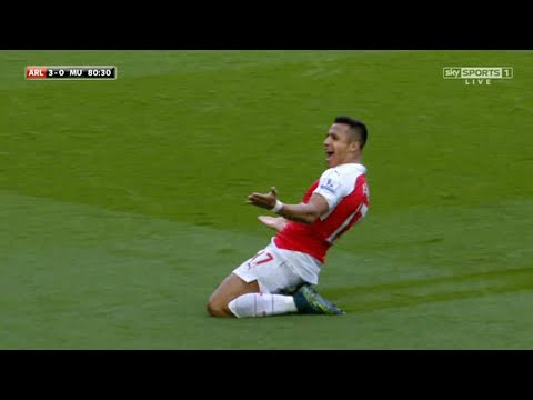 Alexis Sanchez vs Manchester United (Home) 15-16 - English Commentary