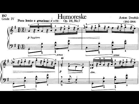 Piano Pieces for Children Grade 4 No.7 Dvorak Op.101 No.7 Humoreske (P.160) Sheet Music