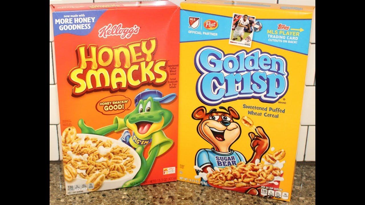 Kellogg's Honey Smacks Cereal vs Post