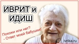 Иврит и идиш - похожи или нет? Отвечает моя бабушка!
