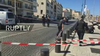 LIVE from Marseille after car crashes into bus shelters leaving one dead