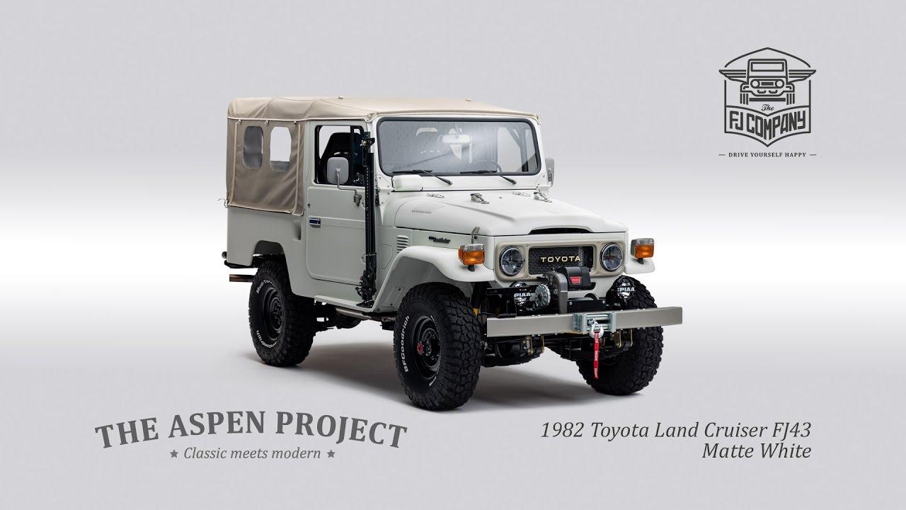 the aspen project 1982 toyota land cruiser fj43 matte white youtube. Black Bedroom Furniture Sets. Home Design Ideas