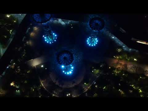 DJI Spark - The Beauty Of Nature and City Lights at Singapore Marina Area