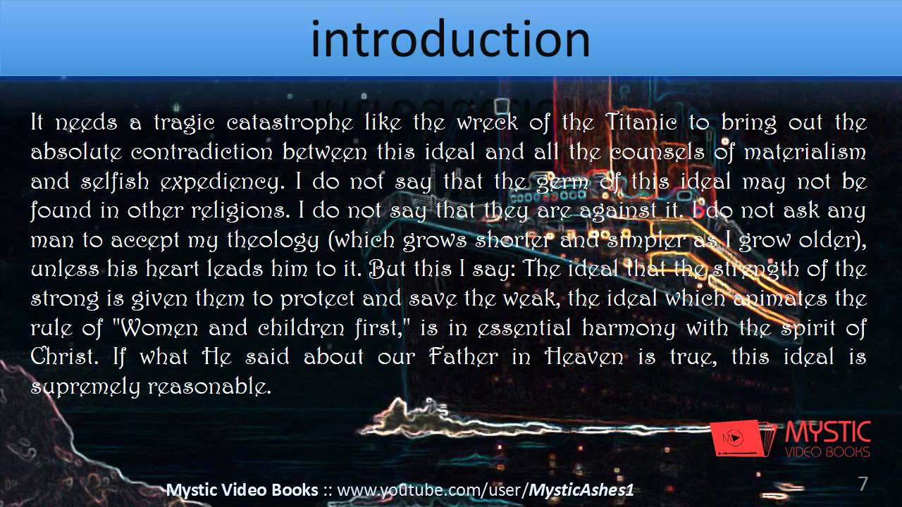 Titanic - Introduction And Facts About Titanic -  1