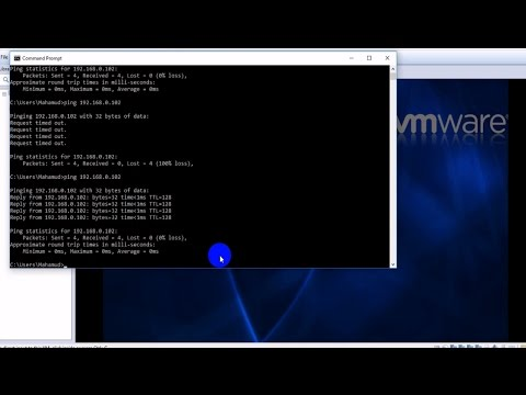 How To Ping Physical Machine To Virtual Machine In VMware ... Vmware Ping