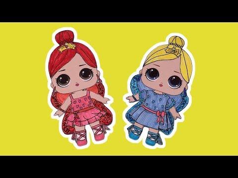 Handmade Paper Dolls, DIY Disneyland Princess Ariel and Princess Sandy Butterfly Elf Skirt