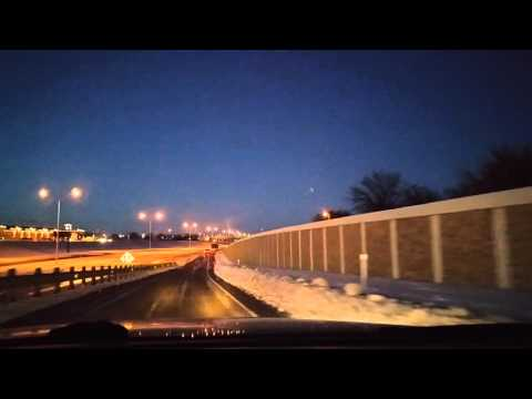 Texas Snowmagedon - Driving Through Lubbock,TX