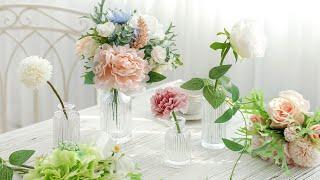 커피 테이블 미니 유리 화병 꽃병 디퓨저 프리저브드 드…