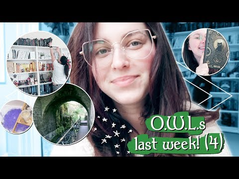 O.W.L.s READATHON VLOG WEEK 4; Parks & rearranging bookshelves