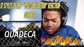 12 STYLES OF RAPPING! (YOUTUBER EDITION) ft. Ricegum, Jake & Logan Paul Quadeca *REACTION*