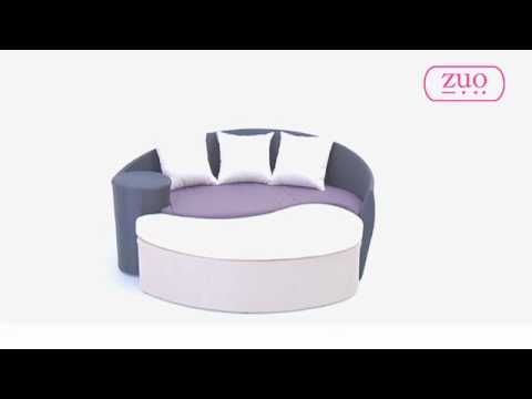 Curacao Bed and Ottoman by Zuo Modern