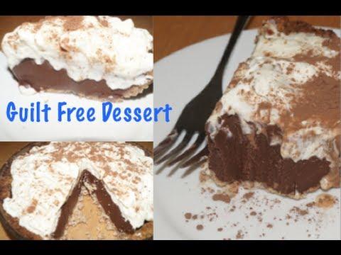 HEALTHY Chocolate Silk Pie- Guilt Free Dessert for Sweet Tooths!