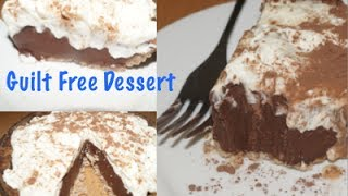 Healthy Chocolate Silk Pie- Guilt Free Dessert For Sweet Tooths!