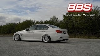 BMW F80 on BBS LM wheels with air ride inWest Palm Beach, FL.