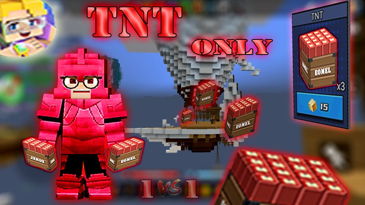 TNT Only Challenge In SOLO Bed Wars | Blockman Go Gameplay (Android , iOS)