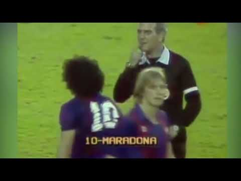 Crazy  fight including Maradona - Barcelona vs Athletic Bilbao (1984)
