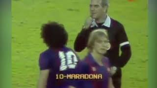 Crazy  fight including Maradona - Barcelona vs Athletic Bilbao (1984)
