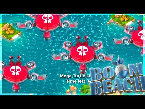 Boom Beach MEGA TURTLE Stages 1-15! New Abilities and Walkthrough!